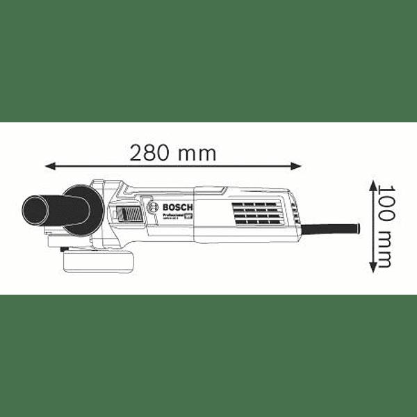 Rebarbadora pequena com regulador velocidade GWS 9-125 S BOSCH
