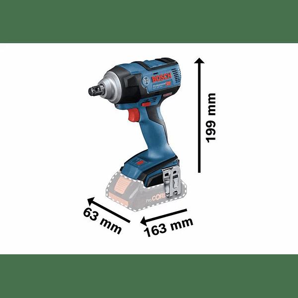 Aparafusadora de impacto sem escovas 18 volts GDS 18V-300 BOSCH