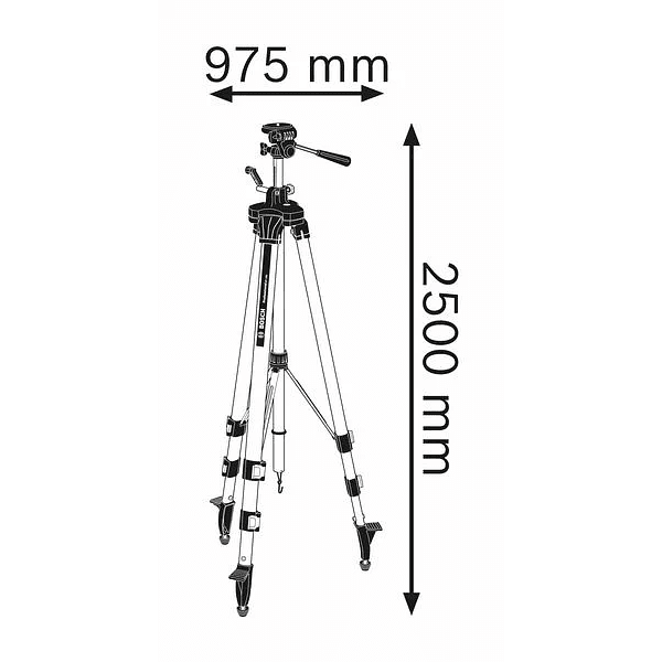 Tripé para a construção civil BT 250 HD BOSCH