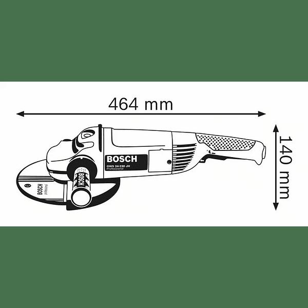 Rebarbadora grande 2400 W 230mm GWS 24-230 JH BOSCH