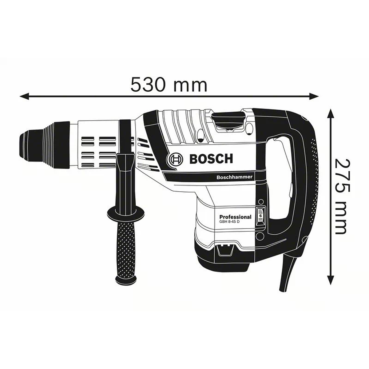 Martelo perfurador SDS Max GBH 8-45 D BOSCH