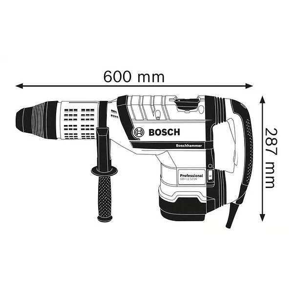 Martelo perfurador SDS Max GBH 12-52 DV BOSCH