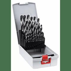 Conjunto de brocas para metal HSS PointTeQ BOSCH (25 brocas)