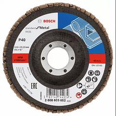10 un. Disco de lixa em lamelas 115mm X431 Standard para Metal BOSCH
