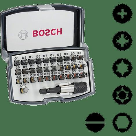 Conjunto de pontas de aparafusar Extra Hard BOSCH (32 pcs)