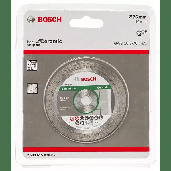 Disco corte diamante 76mm Best for Ceramic BOSCH