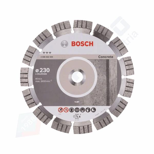 Disco de corte de diamante para betão 230mm Best for Concrete BOSCH