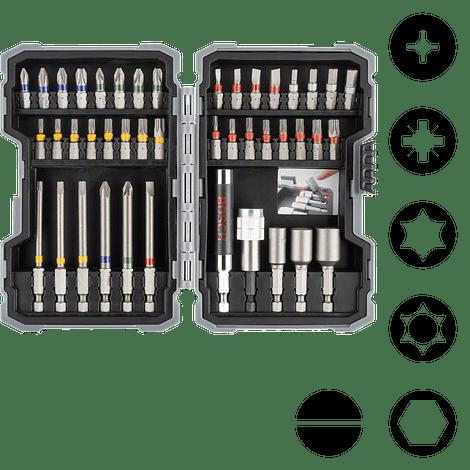 Conjunto de pontas de aparafusar e chaves de caixa Extra Hard BOSCH (43 pcs)