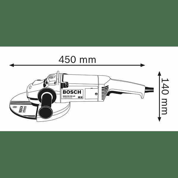 Rebarbadora grande 2000 W 230mm GWS 20-230 JH BOSCH