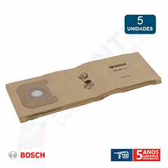 Saco de papel para aspiradores BOSCH - 5 Unidades