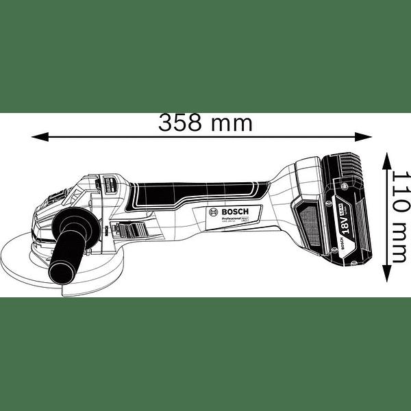 Rebarbadora sem escovas a bateria 18 Volts GWS 18V-10 BOSCH