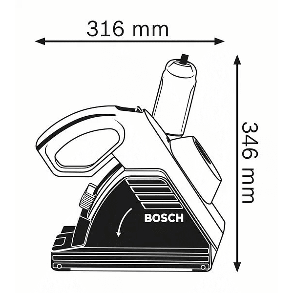 Fresadora de abrir roços GNF 35 CA BOSCH