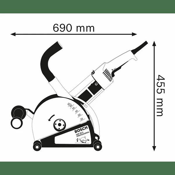 Fresadora de abrir roços GNF 65 A BOSCH