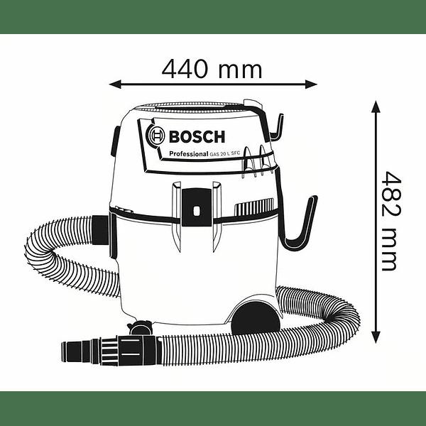 Aspirador universal GAS 20 L SFC BOSCH