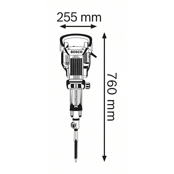 Martelo demolidor GSH 16-30 BOSCH