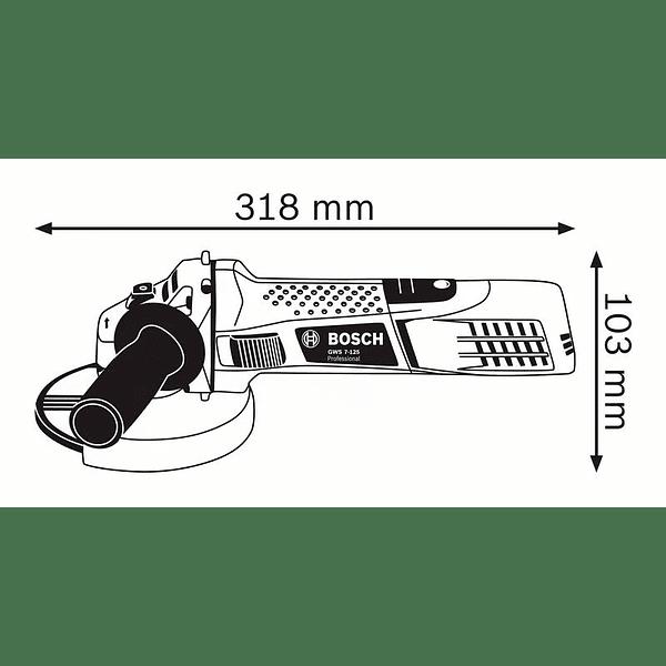 Rebarbadora pequena GWS 7-125 BOSCH