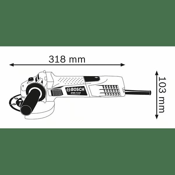 Rebarbadora com regulador de velocidade GWS 7-115 E BOSCH
