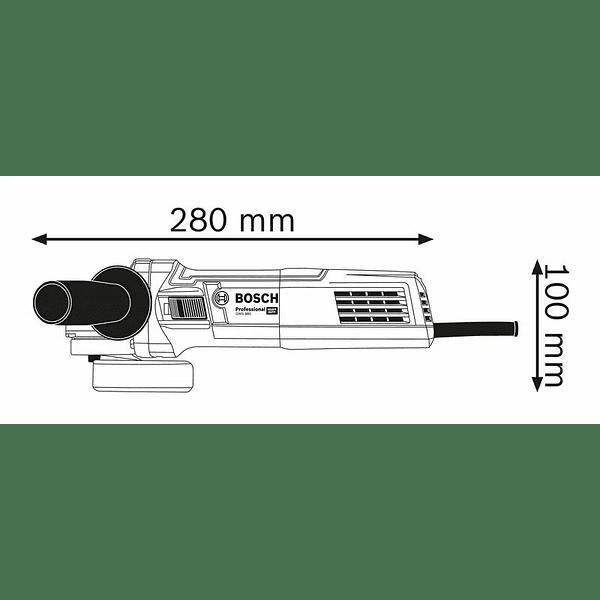 Rebarbadora pequena com mala GWS 880 BOSCH
