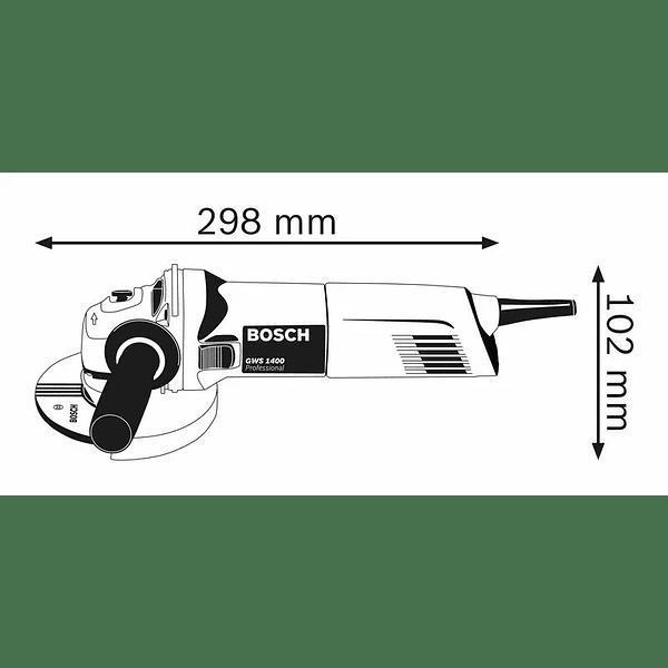 Rebarbadora pequena GWS 1400 (125mm) BOSCH