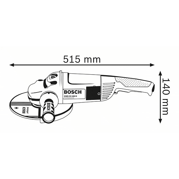 Rebarbadora grande 2200 W 180mm GWS 22-180 JH BOSCH