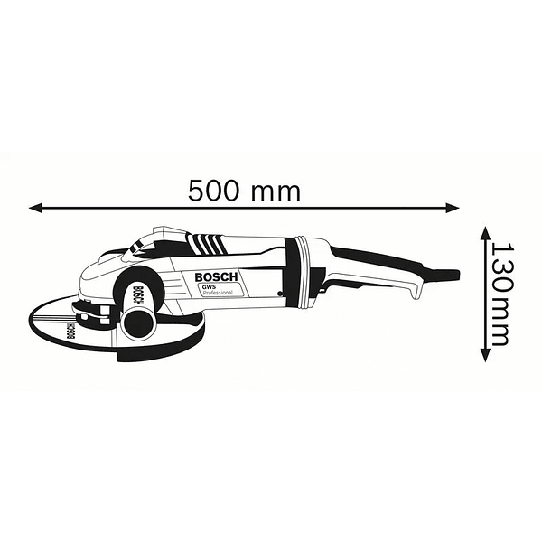 Rebarbadora grande 2200 W 180mm GWS 22-180 LVI BOSCH