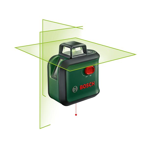 Nivel laser de linhas cruzadas verdes Advanced Level 360 BOSCH DIY