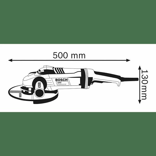 Rebarbadora grande 2200 W 230mm GWS 22-230 LVI BOSCH