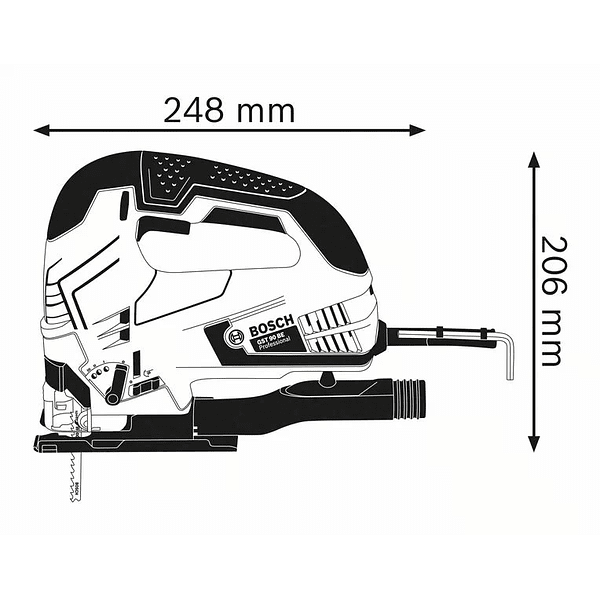 Serra vertical tico-tico GST 90 BE + 25 lâminas BOSCH