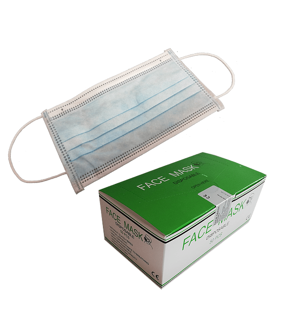 MÁSCARAS DE PROTECCIÓN DESECHABLES - RESPIRADORES (Cantidad límite para ordenar 5 cajas)