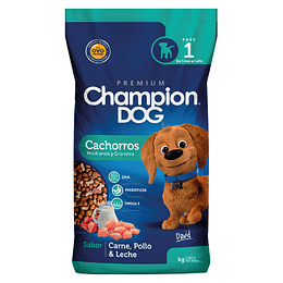 CHAMPION DOG CACHORROS MEDIANOS Y GRANDES 18 K.
