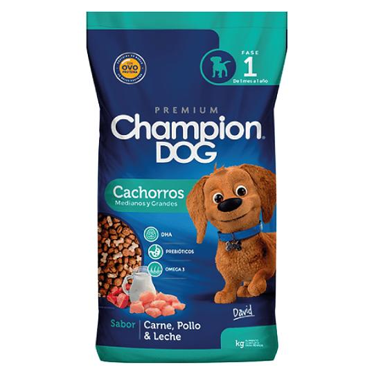 CHAMPION DOG CACHORROS MEDIANOS Y GRANDES 18 K.