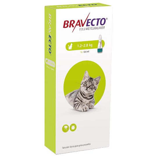 BRAVECTO PIPETA GATO 1.2 - 2.8 K.