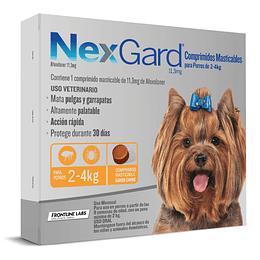 NEXGARD 1 COMPRIMIDO 2 - 4 K.