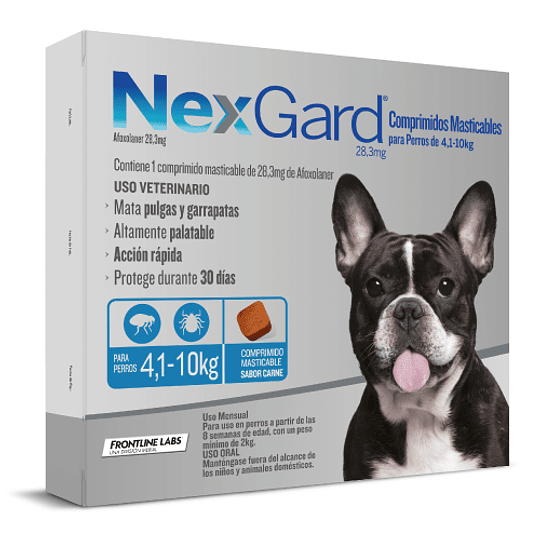 NEXGARD 1 COMPRIMIDO 4.1 - 10 K.