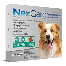 NEXGARD 3 COMPRIMIDOS 10.1 - 25 K.