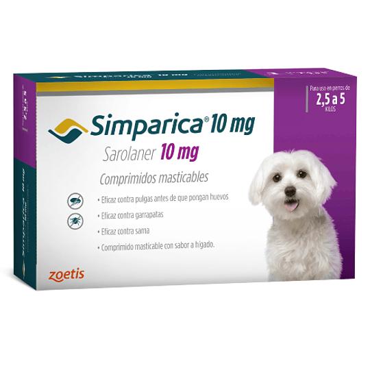 SIMPARICA 3 COMPRIMIDOS 2.5 - 5 K. 10 MG