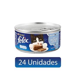 FELIX PATÉ PESCADO Y ATÚN 156 GRS. 24 UDS.