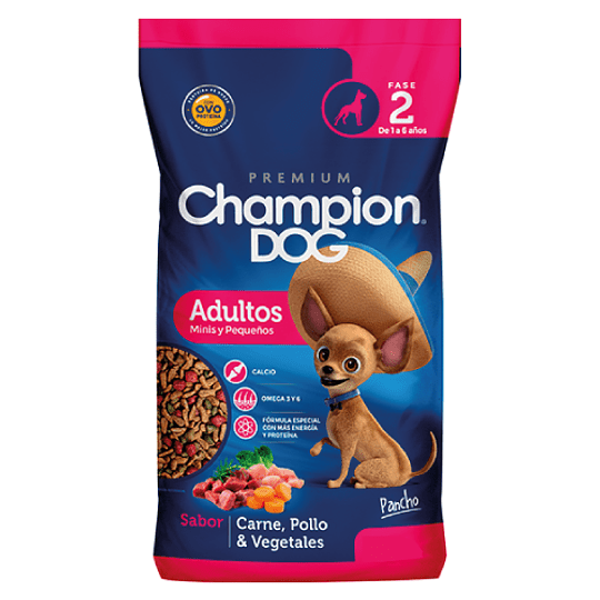 CHAMPION DOG ADULTOS MINIS Y PEQUEÑOS 18 K.