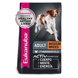 EUKANUBA ADULT MEDIUM BREED 15 K.