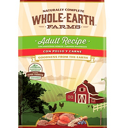 WHOLE EARTH FARMS ADULTO POLLO Y CARNE 7.5KG