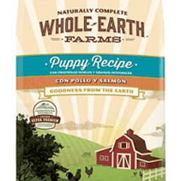 WHOLE EARTH FARMS PUPPY POLLO Y SALMON 7.5 KG