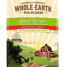 WHOLE EARTH FARMS ADULTO POLLO Y CARNE 12K