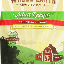 WHOLE EARTH FARMS ADULTO POLLO Y CARNE 2 K.
