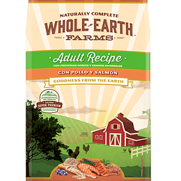 WHOLE EARTH FARMS ADULTO POLLO Y SALMON 7.5 K.