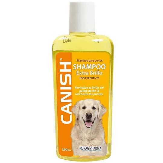CANISH SHAMPOO EXTRA BRILLO 390ML.