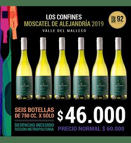 Pack x6 - Los Confines Moscatel de Alejandría 2019