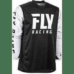 JERSEY FLY RACING RADIUM NEGRO/BLANCO