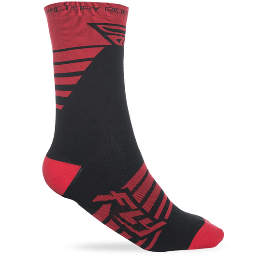 CALCETIN FLY RACING FACTORY RED/BLK