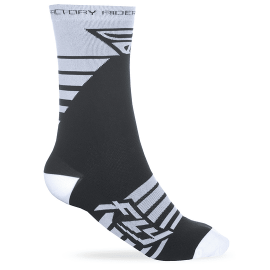 CALCETIN FLY RACING FACTORY WHT/BLK