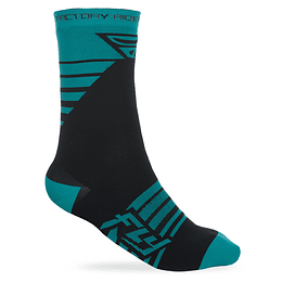 CALCETIN FLY RACING FACTORY TEAL/BLK